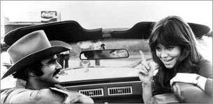 Burt Reynolds and Sally Field from the movie Smokey and the Bandit