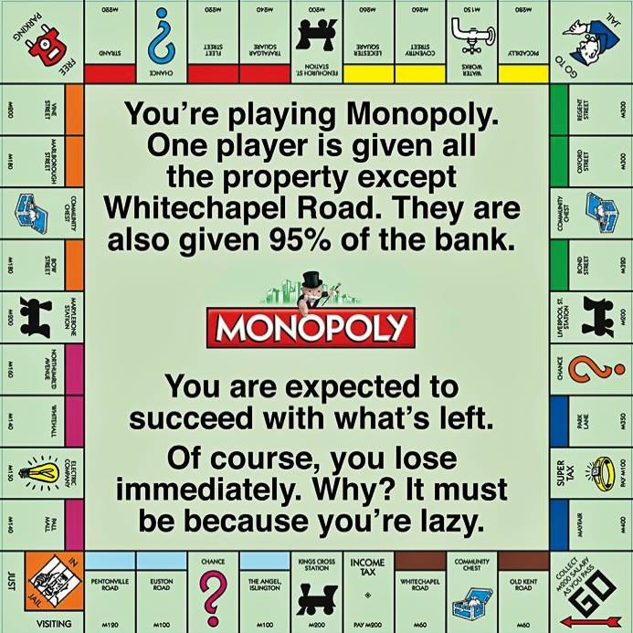 Rules of Monopoly - and the bitter truth about life