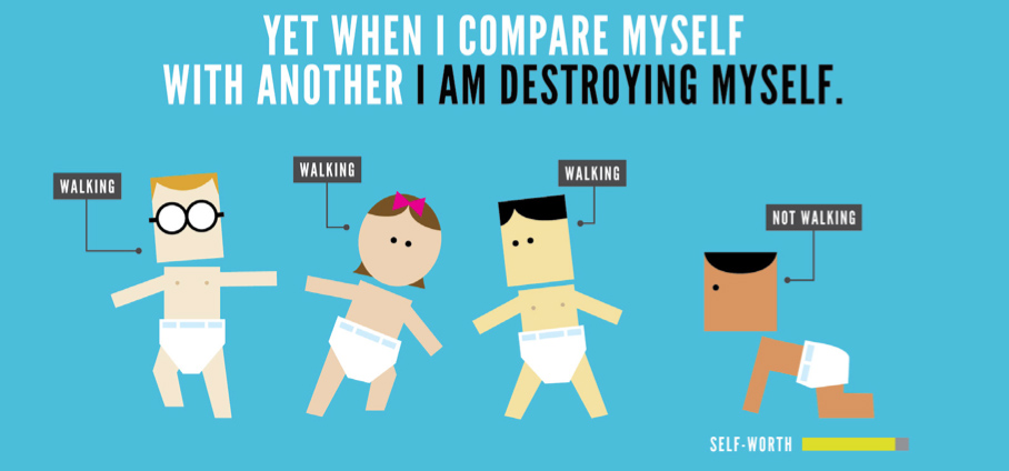 When I Compare Myself ... - from Zen Pencils