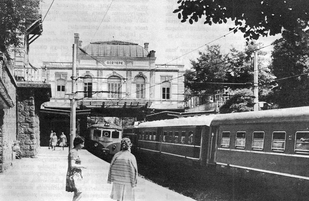 Goztepe train station around 1960s