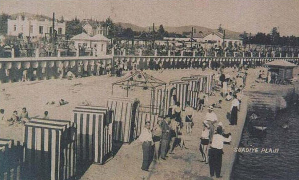Suadiye public beach around 1940s