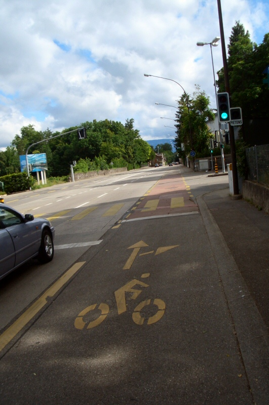 Swiss bicycle routes are generally safe and comfortable for cyclists