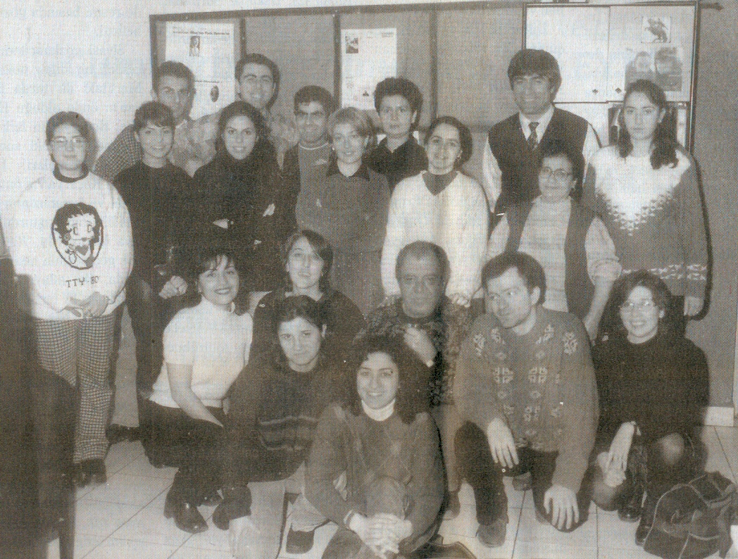 Hrant Dink with Agos Staff