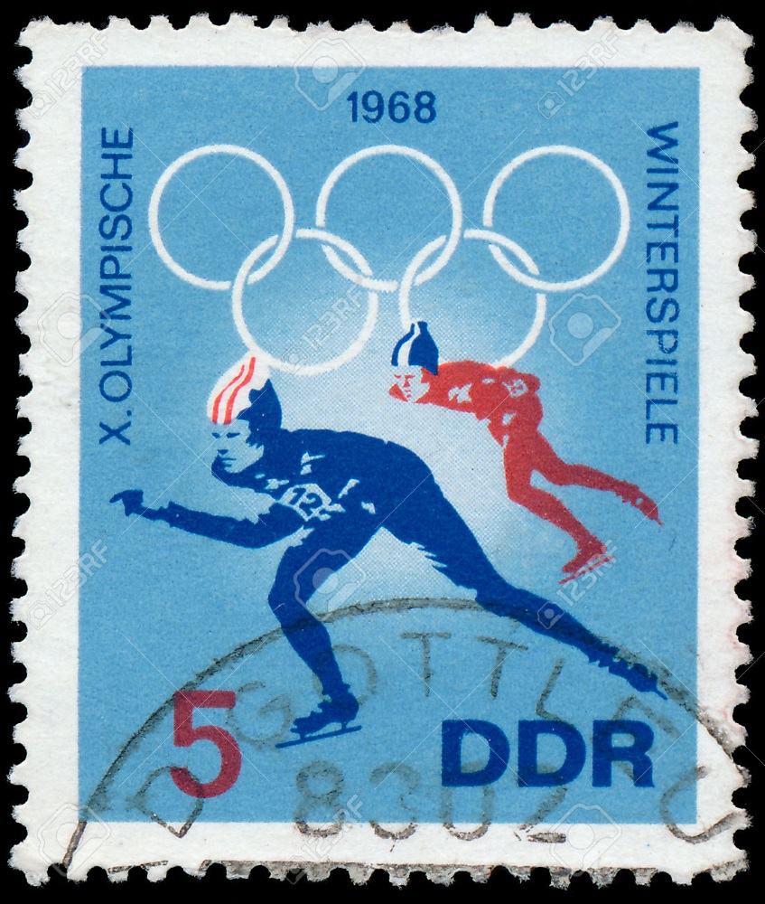 Stamp for Winter Olympic Games - East Germany was the most successful country in Winter Games