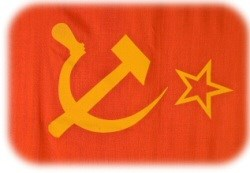 Hammer and Sickle on the USSR Flag